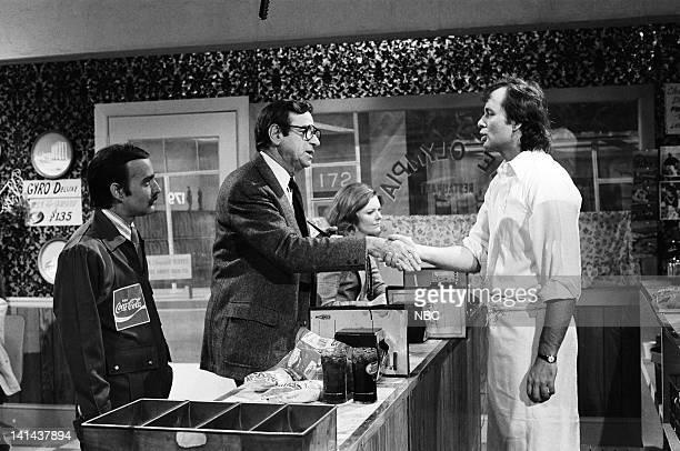 Brian DoyleMurray as Larry Petropopolis Walter Matthau as John Pittman Jane Curtin Bill Murray as Niko during 'The Olympia Cafe' skit on December 2...