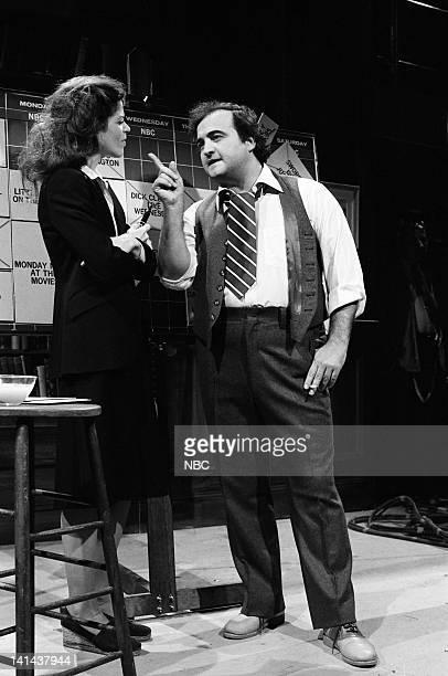 Gilda Radner as Barbara John Belushi as Fred Silverman during the 'Programming Ideas' skit on December 2 1978 Photo by Fred Hermansky/NBC/NBCU Photo...