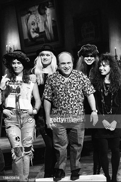 The Bangles with Host Danny DeVito on December 3 1988