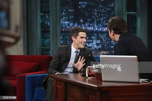 Dave Annable during an interview with host Jimmy Fallon on September 19 2012