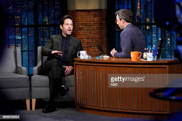 Actor Paul Rudd during an interview on June 28 2018