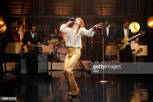 Florence Welch of musical guest Florence The Machine performs on June 28 2018