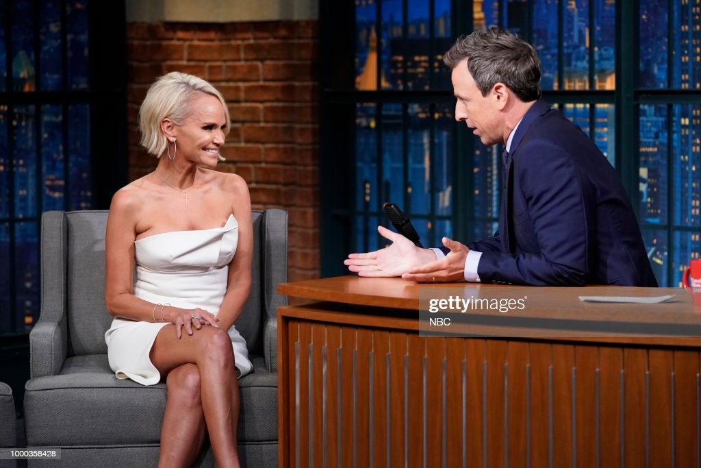 "NBC's ""Late Night With Seth Meyers"" With Guests Kristin Chenoweth, Andrew Rannells"