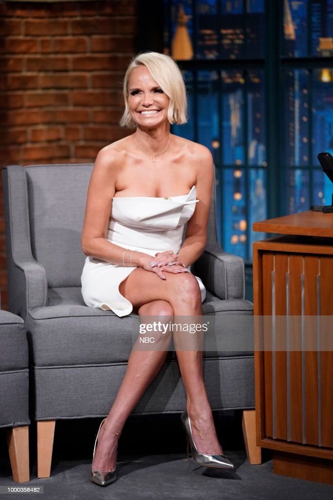 """NBC's """"Late Night With Seth Meyers"""" With Guests Kristin Chenoweth, Andrew Rannells"""