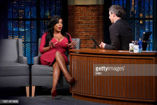 Episode 708 -- Pictured: Comedian Niecy Nash during an interview with host Seth Meyers on July 18, 2018 --
