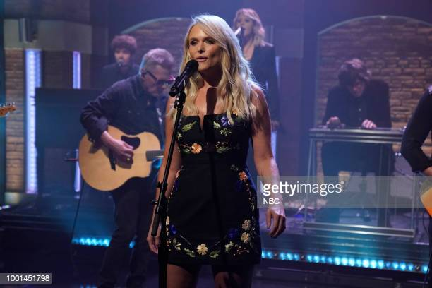 Musical guest Miranda Lambert performs on July 18 2018