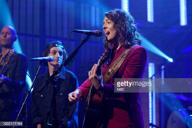 Musical guest Brandi Carlile with Benicio Bryant peform on July 19 2018