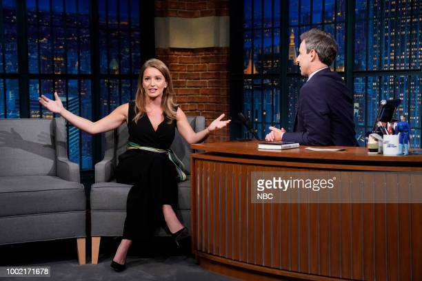 NBC News correspondent Katy Tur during an interview with host Seth Meyers on July 19 2018
