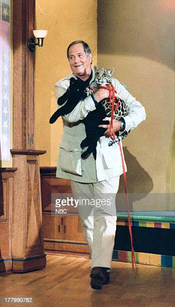 Zoologist Jim Fowler arrives on June 13 1995