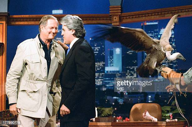 Zoologist Jim Fowler during an interview with Jay Leno on June 13 1995