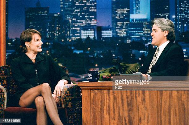 Actress Alexandra Paul during an interview with host Jay Leno on June 19 1995