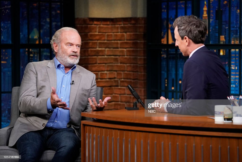 Actor Kelsey Grammer during an interview with host Seth Meyers on August 9, 2018 --