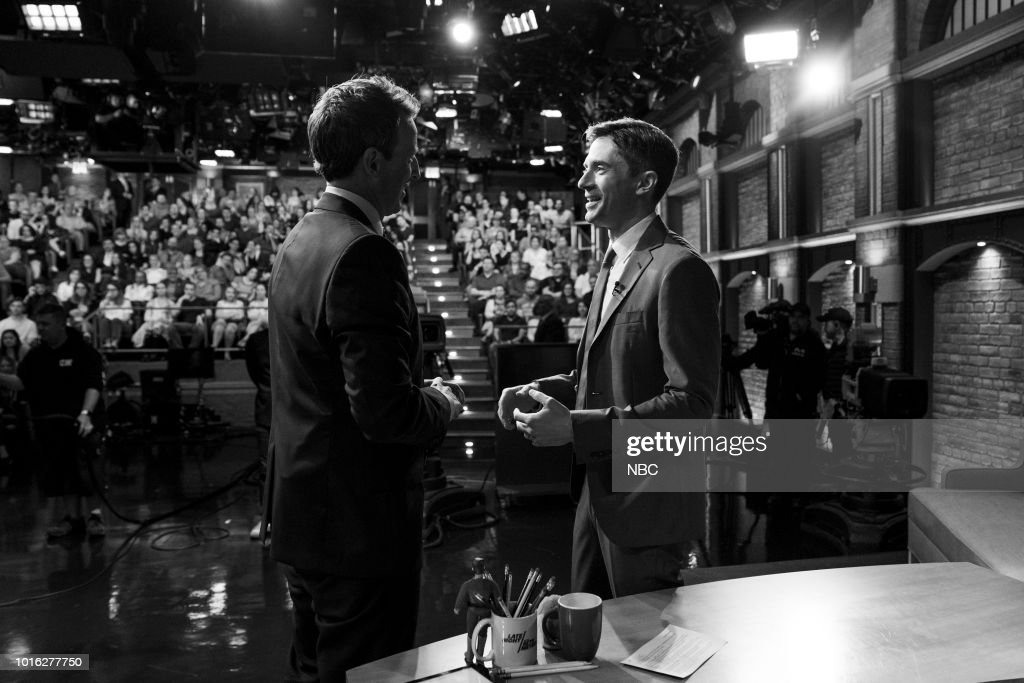 "NBC'S ""Late Night With Seth Meyers"" With Guests Glenn Close, Topher Grace, Low Cut Connie"