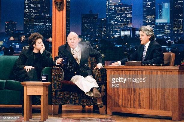 Actors Richard Lewis and Carl Reiner during an interview with host Jay Leno on June 29 1995