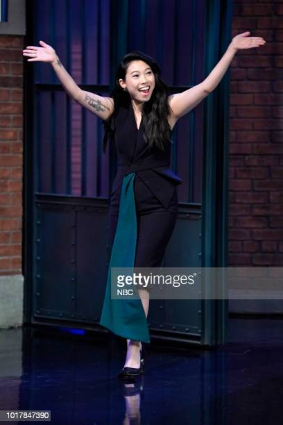 Actress Awkwafina arrives on August 16 2018