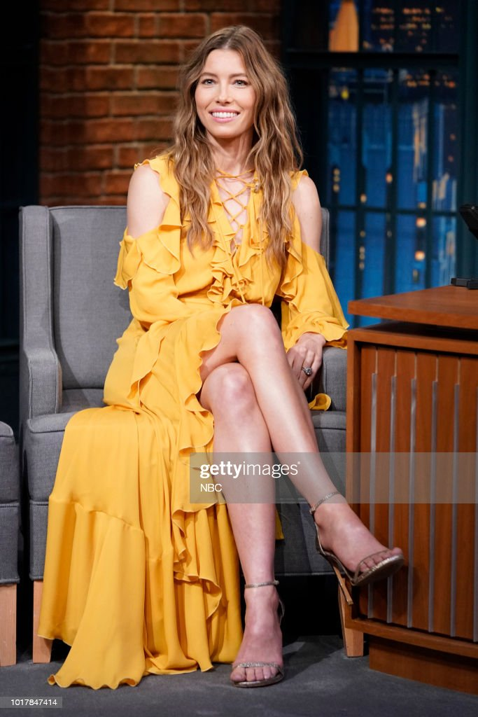 """NBC'S """"Late Night With Seth Meyers"""" With Guests Jessica Biel, Awkwafina, Matt Groening"""