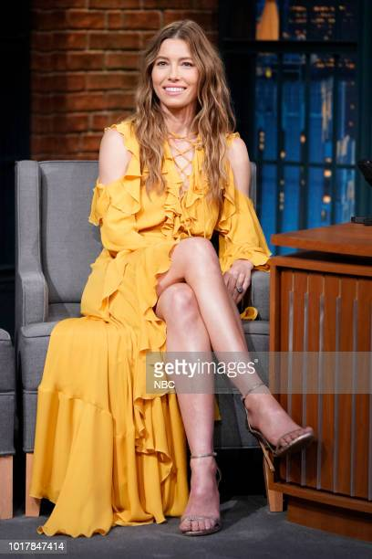 Actress Jessica Biel during an interview on August 16 2018