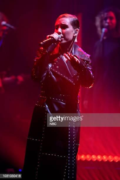 Musical guest Lykke Li performs on September 10 2018