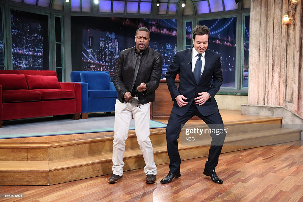Chris Tucker during a skit with host Jimmy Fallon on November 14, 2012 --