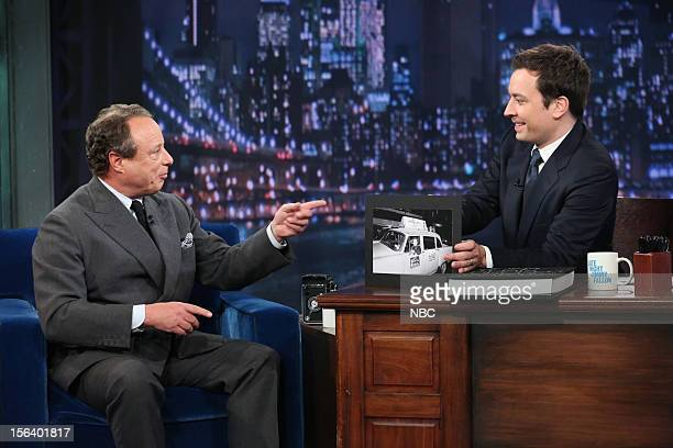 Episode 735 -- Pictured: Jonathan Becker during an interview with host Jimmy Fallon on November 14, 2012 --