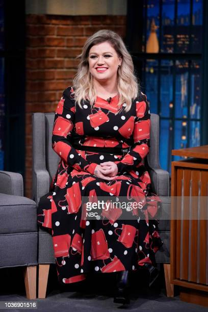 Episode 736 -- Pictured: Singer Kelly Clarkson during an interview on September 20, 2018 --