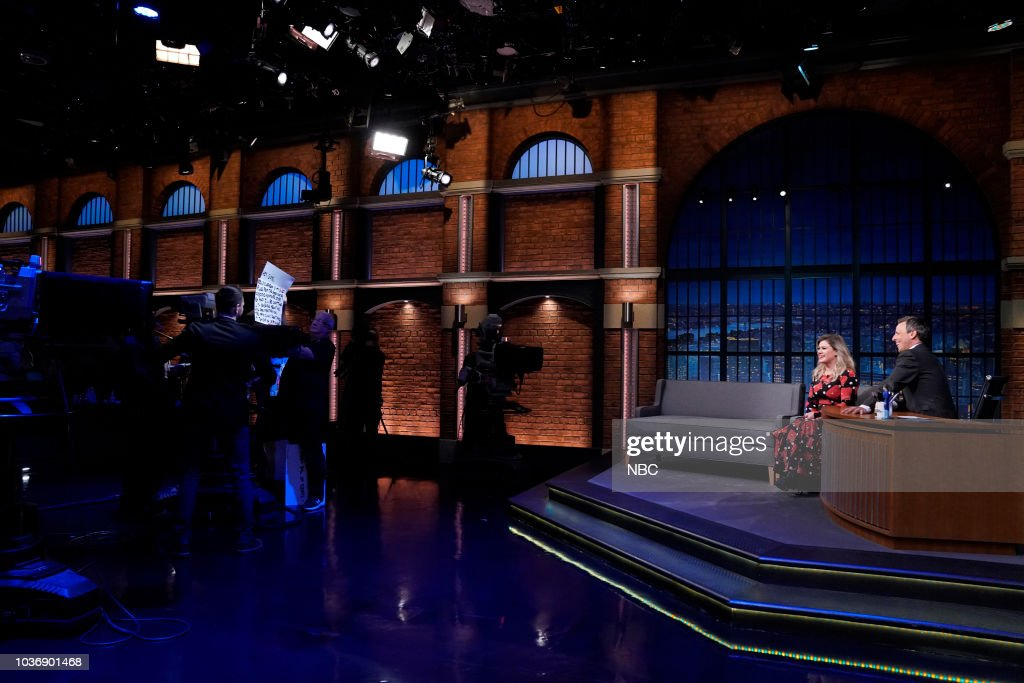 "NBC'S ""Late Night with Seth Meyers"" With Guests Kelly Clarkson, Freddie Highmore, Ken Burns"