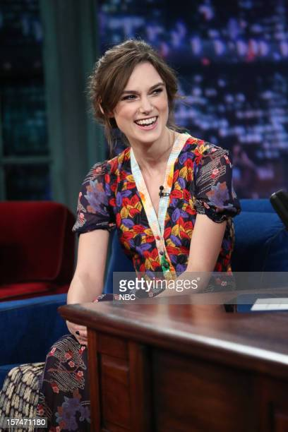 Keira Knightley during an interview on December 3rd 2012