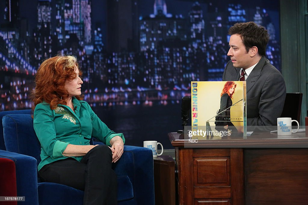 Bonnie Raitt during an interview with host Jimmy Fallon on December 4, 2012 --