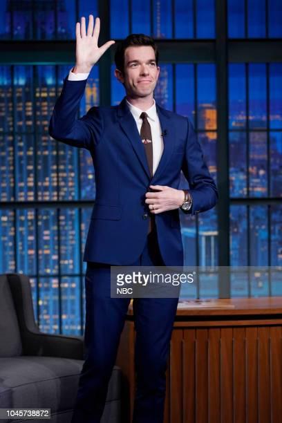 Comedian John Mulaney arrives on October 4 2018