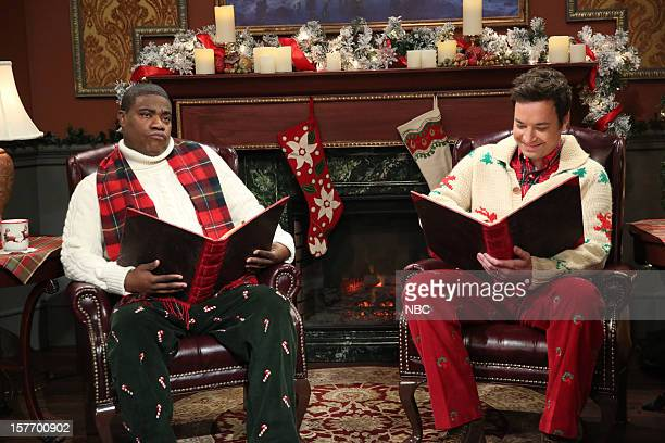 Tracy Morgan during a skit with host Jimmy Fallon on December 5 2012