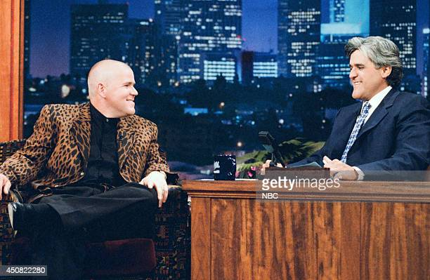 Golfer John Daly during an interview with host Jay Leno on August 8 1995