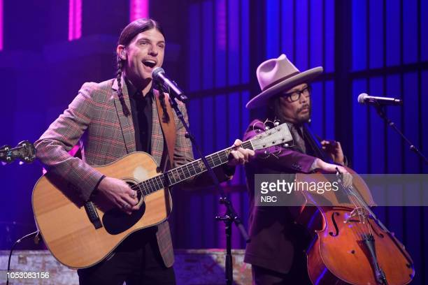 Seth Avett and Joe Kwon of musical guest The Avett Brothers perform on October 24 2018