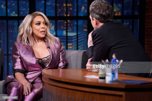 Talk show host Wendy Williams during an interview with host Seth Meyers on October 30 2018