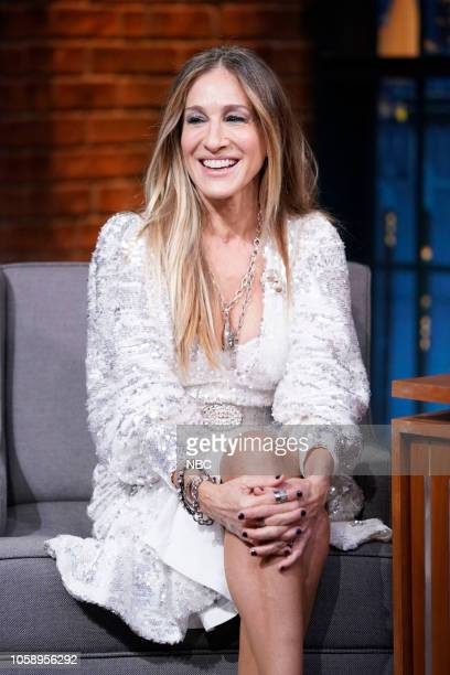 Actress Sarah Jessica Parker during an interview on November 7 2018