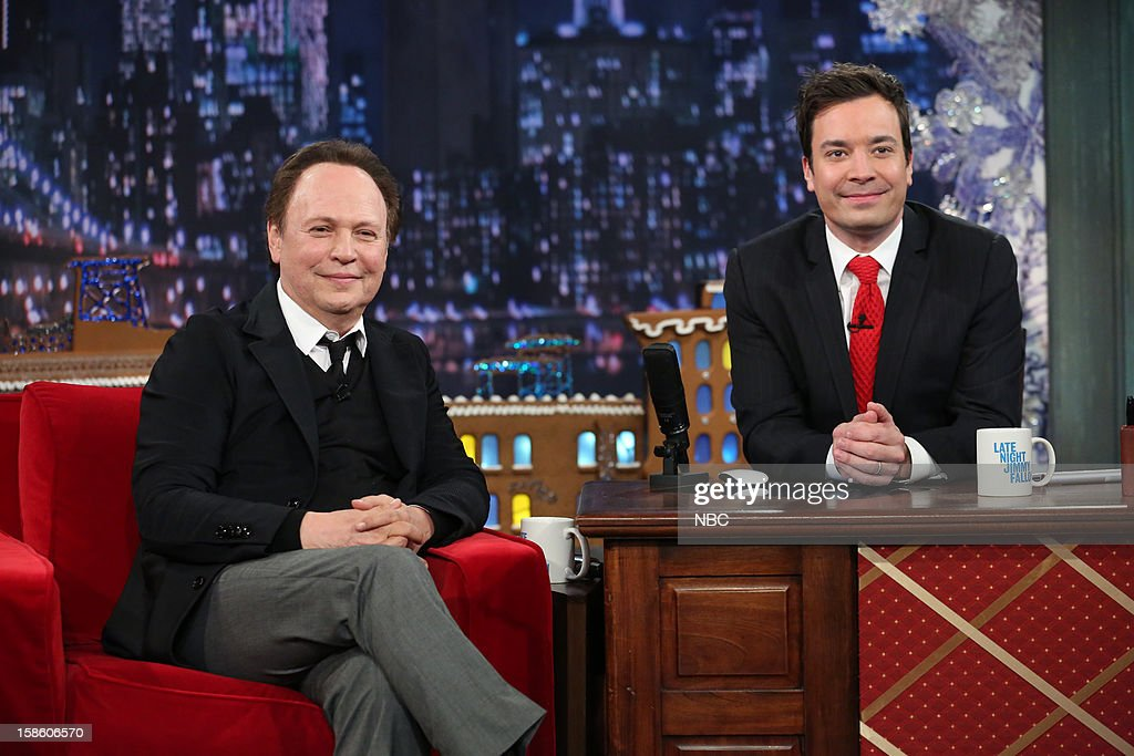 Billy Crystal during an interview with host Jimmy Fallon on December 20, 2012 --