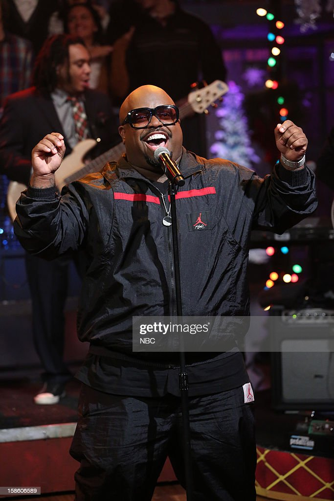 Musical guest Cee Lo Green performs on December 20, 2012 --