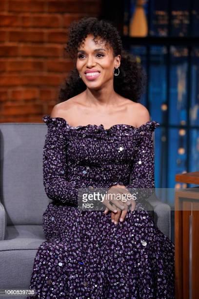 Episode 757 -- Pictured: Actress Kerry Washington on November 12, 2018 --
