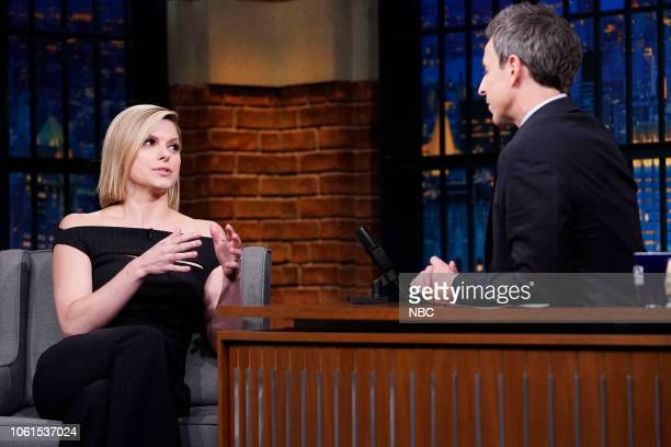Broadcast journalist Kate Bolduan during an interview with Seth Meyers on November 14 2018