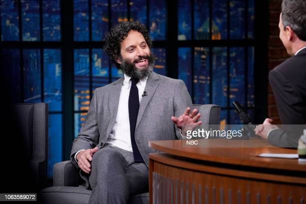 Actor Jason Mantzoukas during an interview on November 19 2018