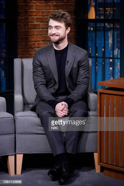 Actor Daniel Radcliffe during an interview on November 21 2018