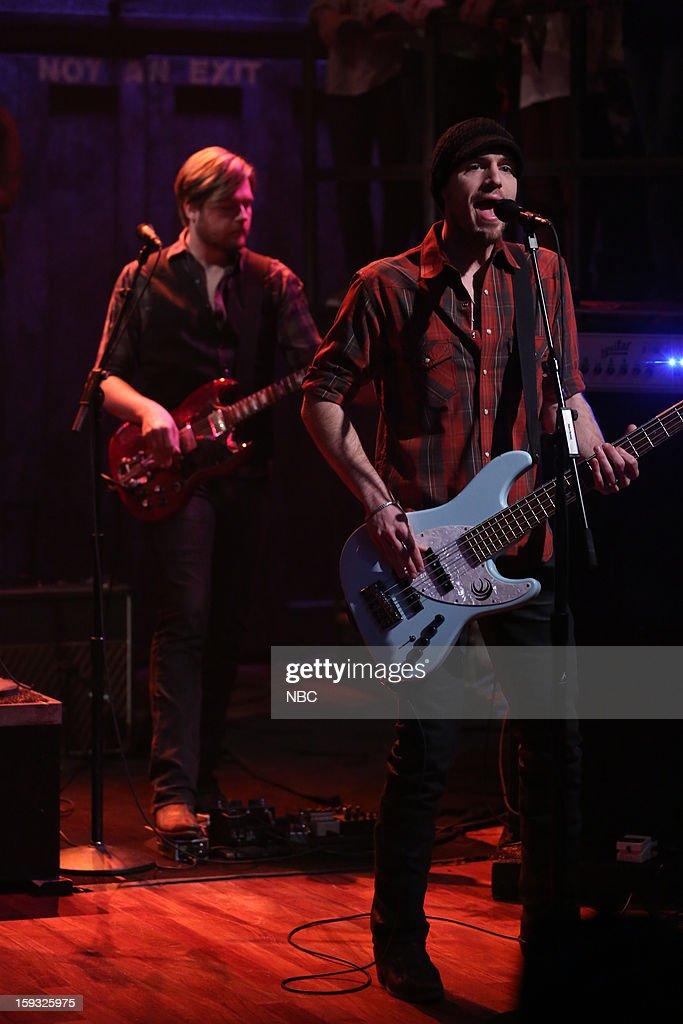 Eli Young Band's Jon Jones on January 11, 2013 --