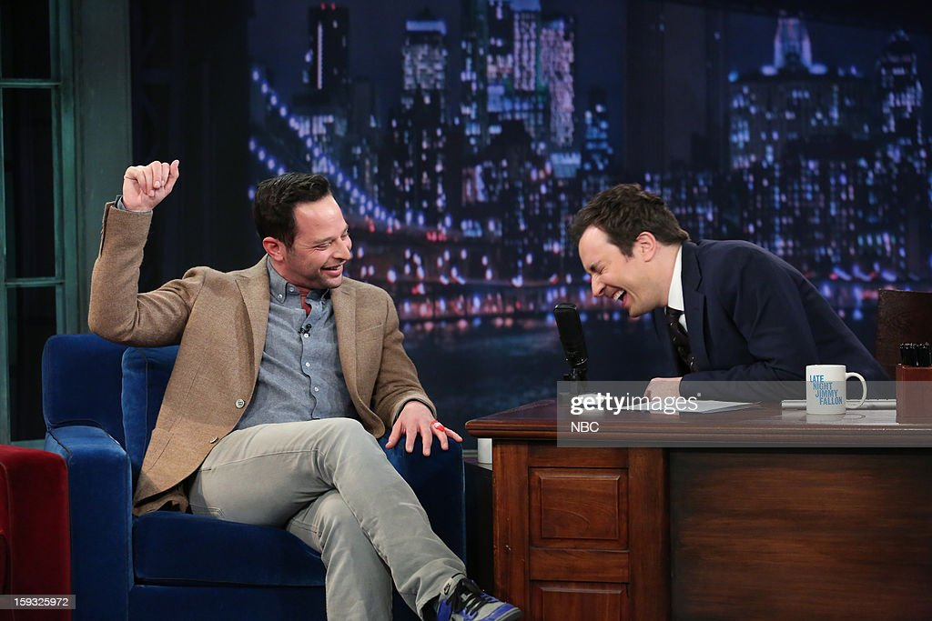 Nick Kroll during an interview with host Jimmy Fallon on January 11, 2013 --