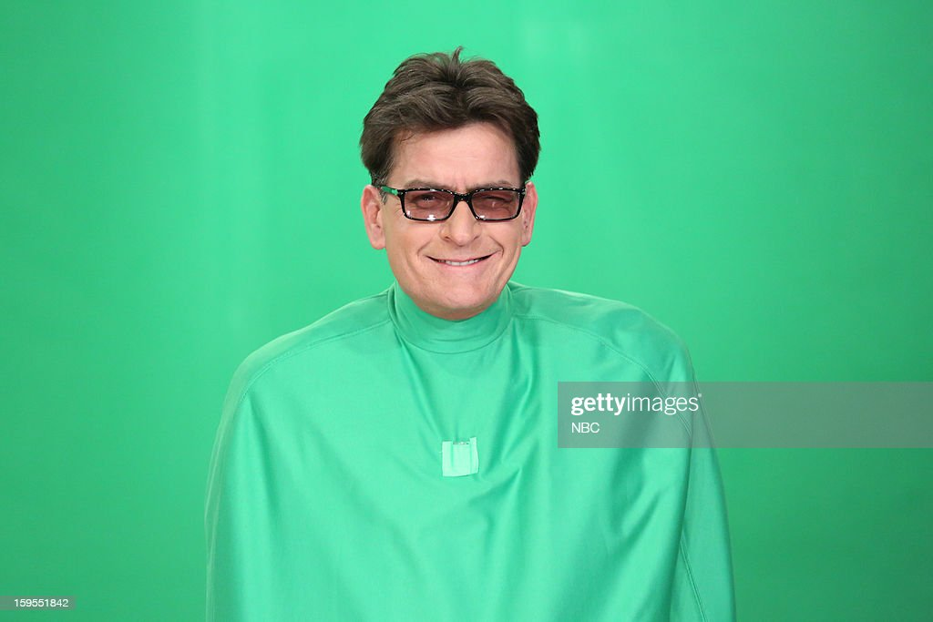 Charlie Sheen during a skit on January 15, 2013 --