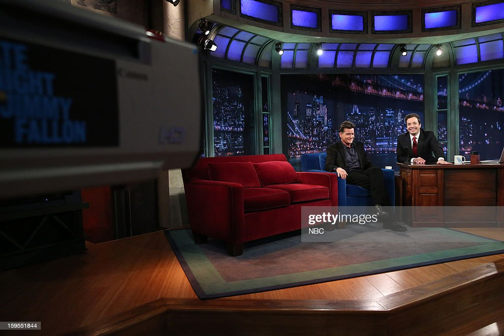 Charlie Sheen during an interview with host Jimmy Fallon on January 15, 2013 --