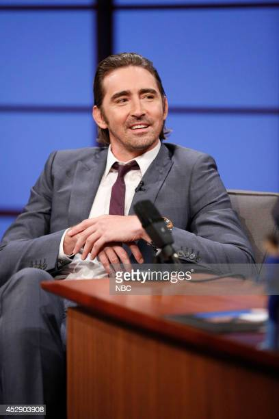 Actor Lee Pace during an interview on July 29 2014