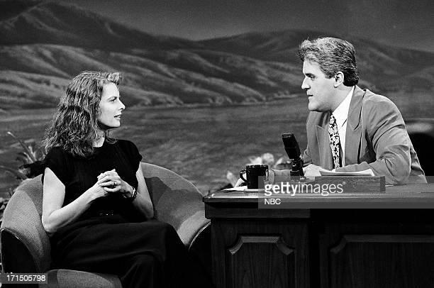 Actress Kathryn Harrold during an interview with host Jay Leno on September 24 1992
