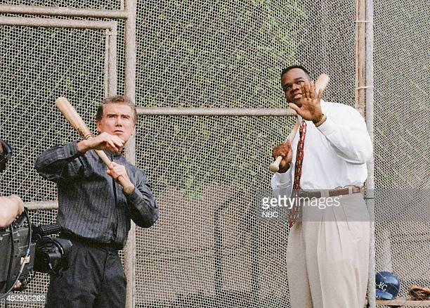 Talk show host Regis Philbin and professional baseball player Frank Thomas on October 4 1995
