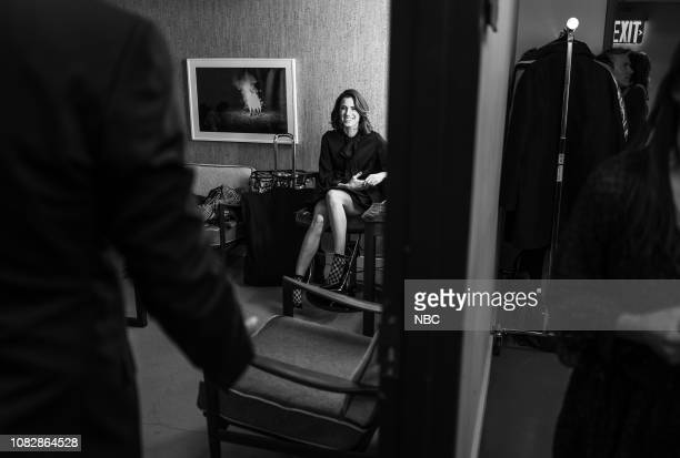 Episode 781 -- Pictured: Actress Allison Williams backstage on January 14, 2019 --