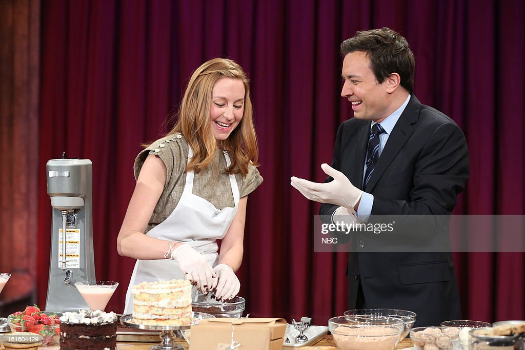 Christina Tosi with host Jimmy Fallon during an interview on February 12, 2013 --