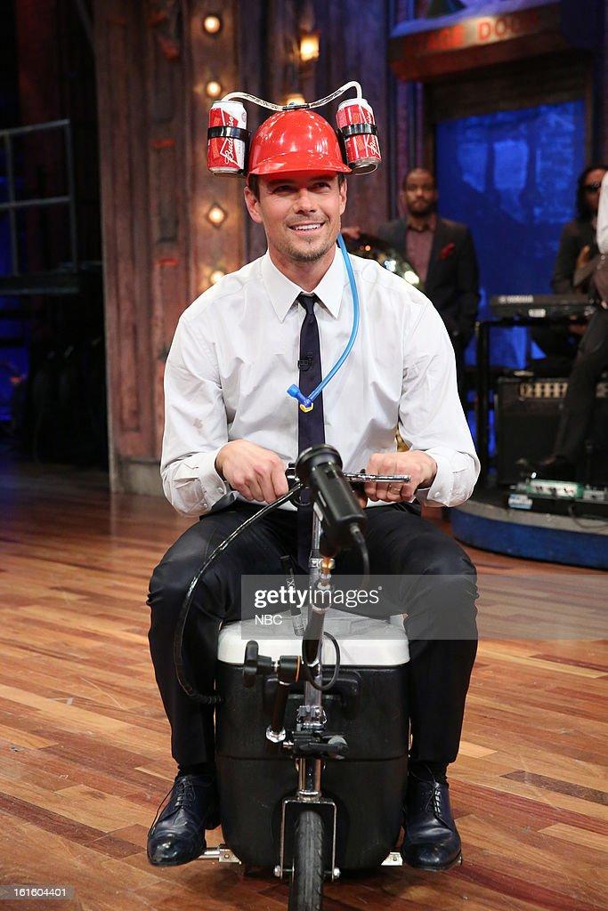 Josh Duhamel during a skit on February 12, 2013 --